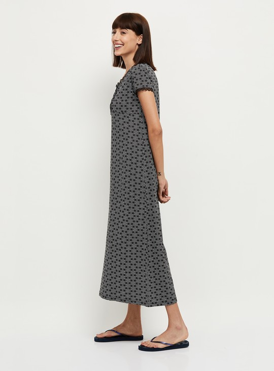 MAX Printed Night Gown