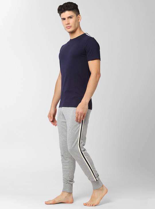 PETER ENGLAND Solid Loungewear T-shirt with Joggers