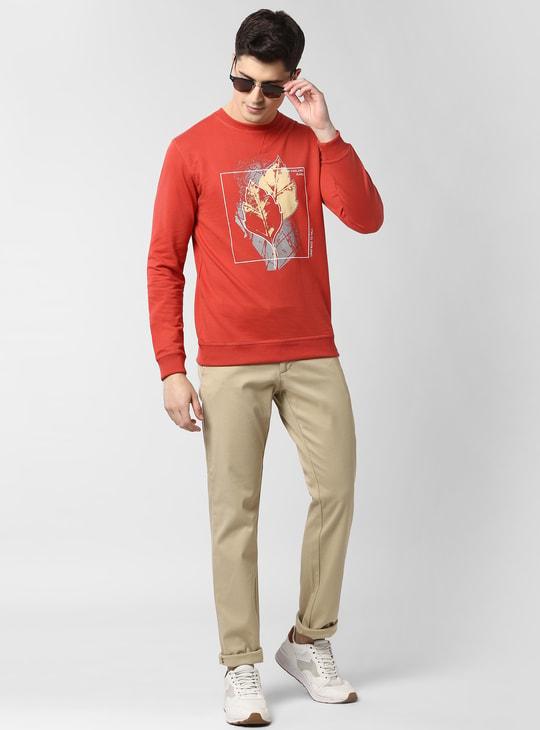 PETER ENGLAND Printed Crew Neck Sweatshirt