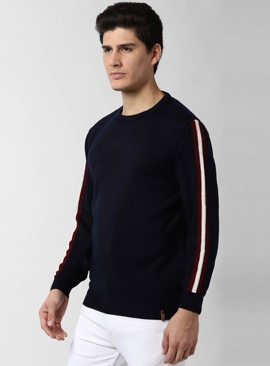 PETER ENGLAND Striped Full Sleeves Sweater