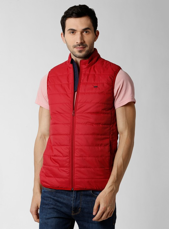 PETER ENGLAND Solid Padded Bomber Jacket