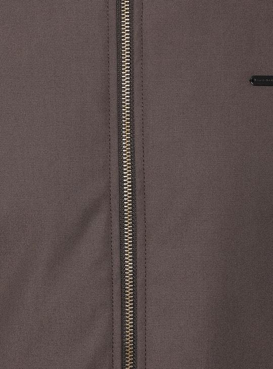 PETER ENGLAND Solid Zip-Closure Jacket
