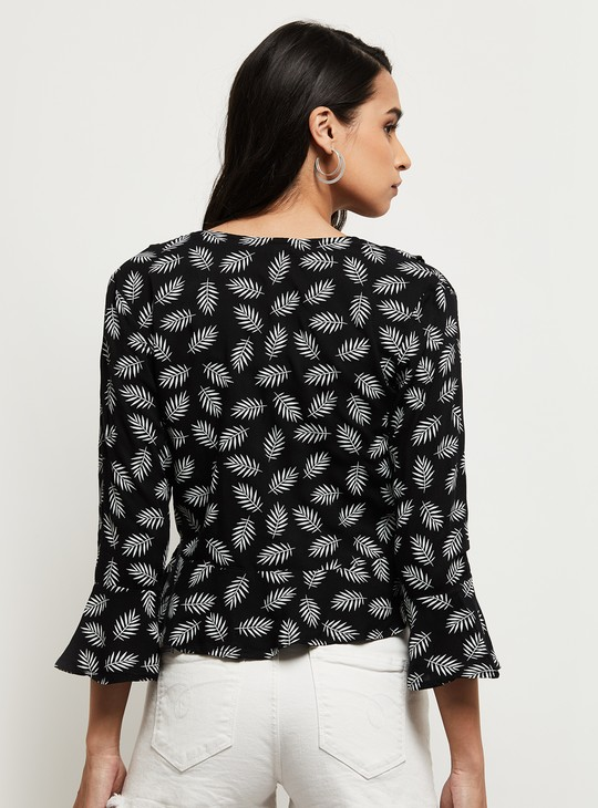 MAX Printed Open-Front Shrug