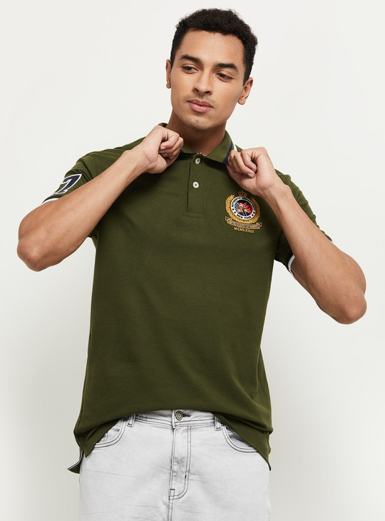 MAX Embroidered Regular Fit Polo T-shirt