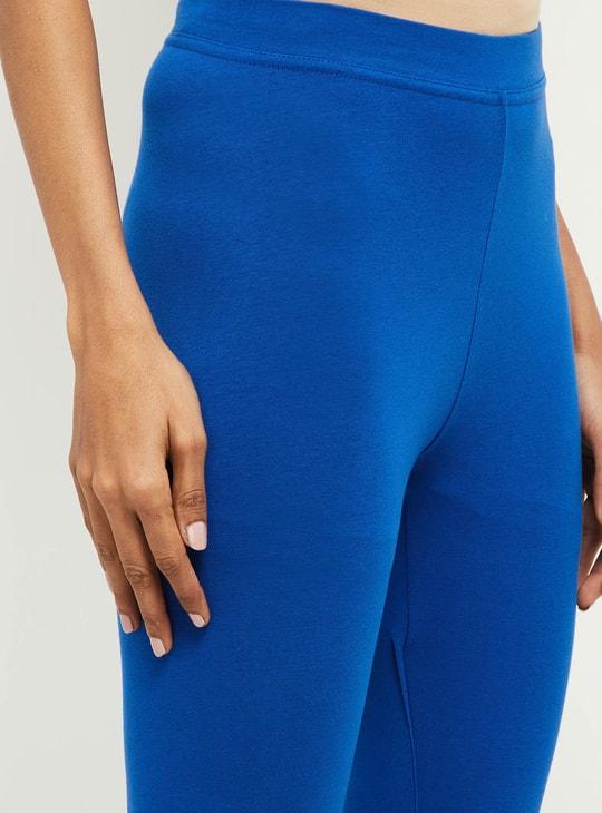 MAX Solid Elasticated Capri Leggings