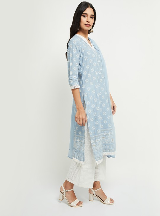 MAX Embroidered Kurta with Solid Dupatta