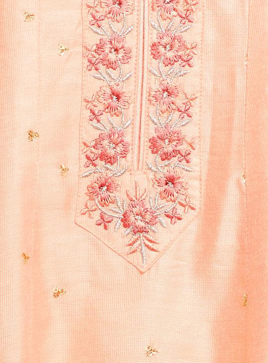 MAX Embroidered A-line Kurta and Dupatta