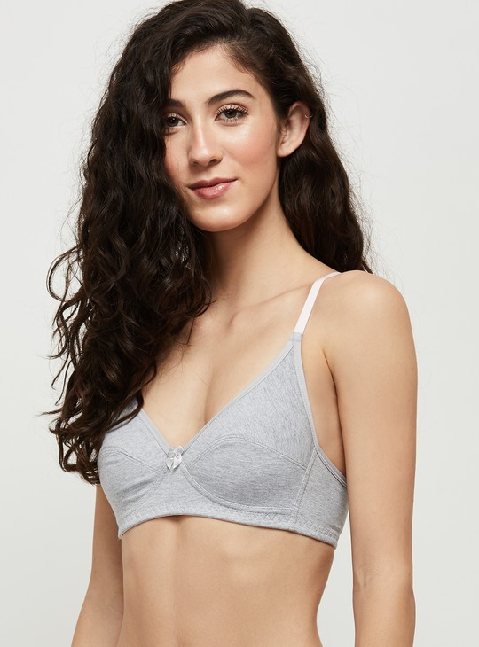 MAX Solid Seamed Soft Cup Bra - Set of 2