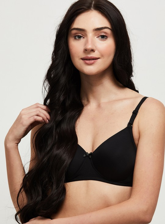 MAX Solid Padded Non-Wired T-shirt Bra