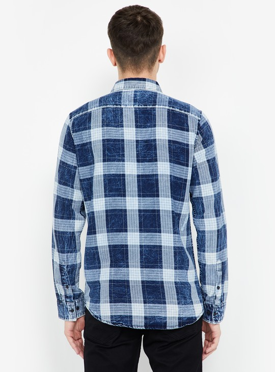 BEING HUMAN Checked Full Sleeves Slim Fit Shirt