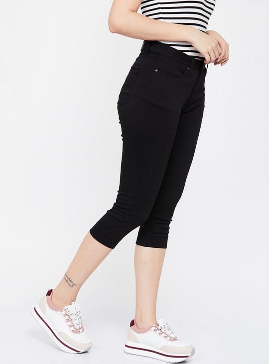 XPOSE Solid Skinny Fit Capris