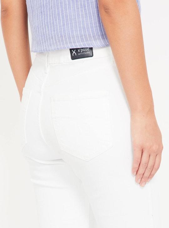 XPOSE Women Solid Skinny Denim Capris