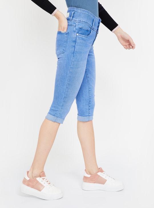 KRAUS Solid Skinny Fit Capris