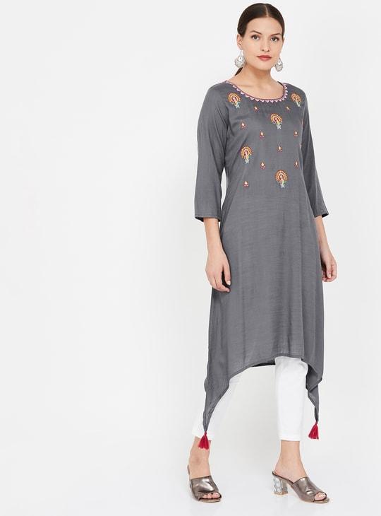 MELANGE Women Embroidered A-line Kurta