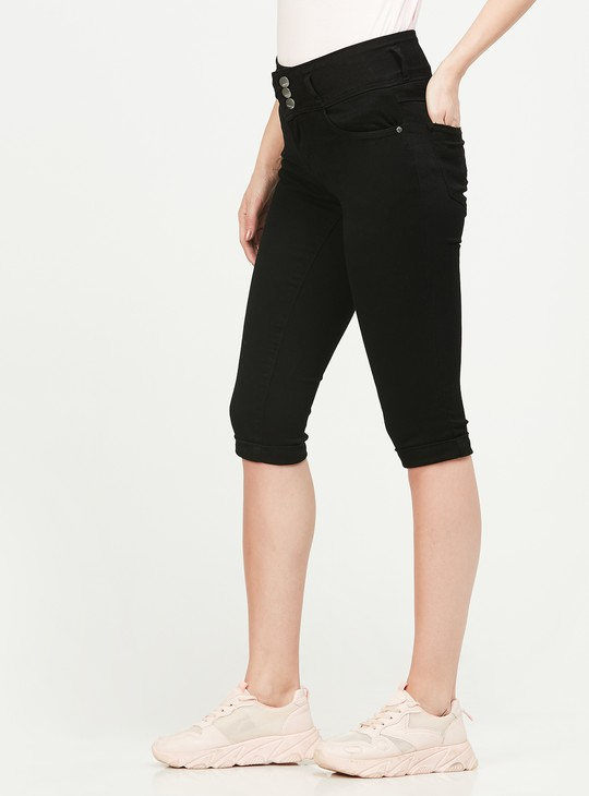 KRAUS Solid Regular Fit Capris