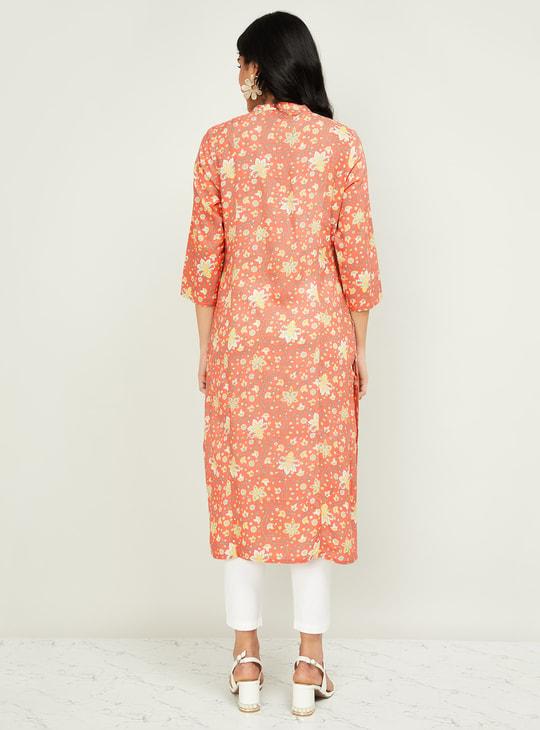 MELANGE Women Printed Three-quarter Sleeves Kurta