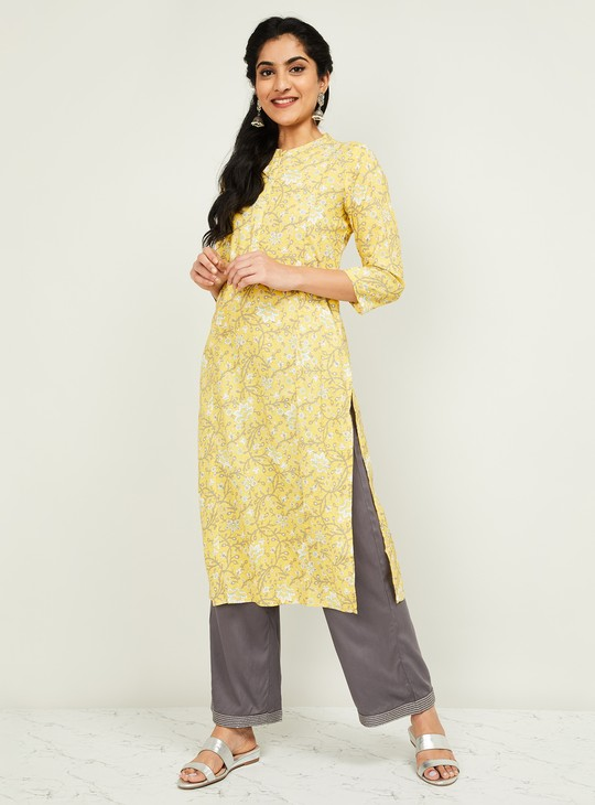 MELANGE Women Printed Three-quarter Sleeves Kurta