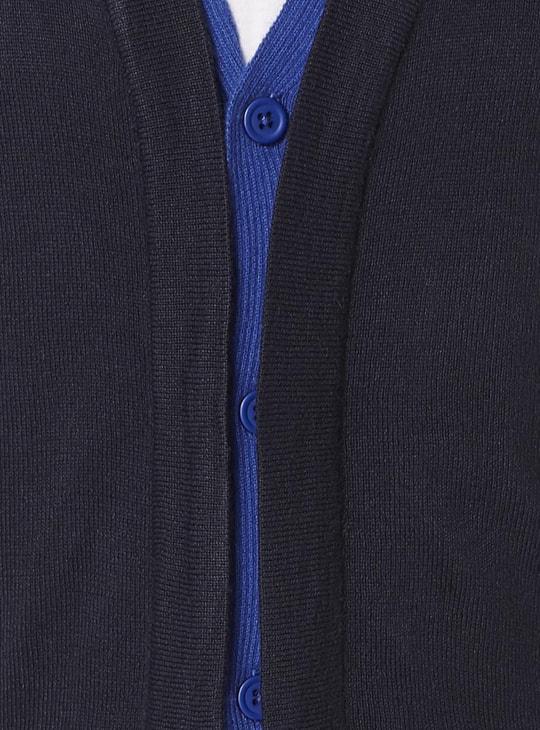 MAX V-Neck Mock Layered Cardigan