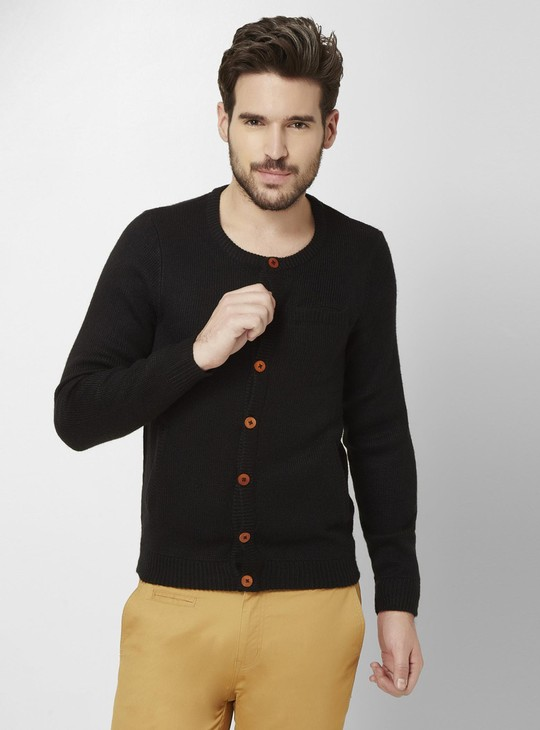 MAX Crew Neck Button Down Cardigan