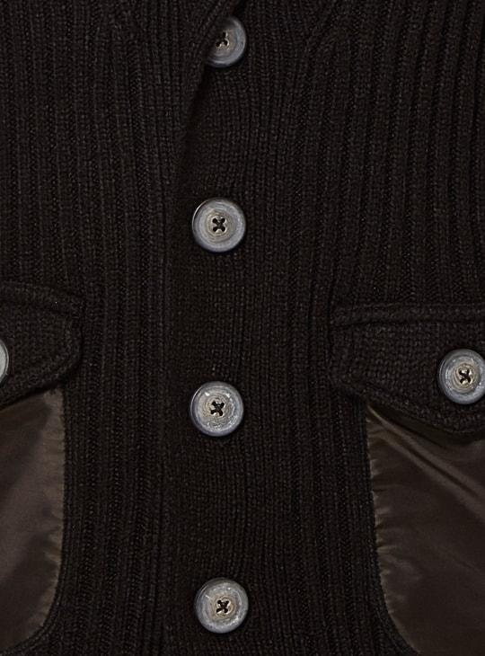 MAX Lapel Collar Sleeveless Cardigan
