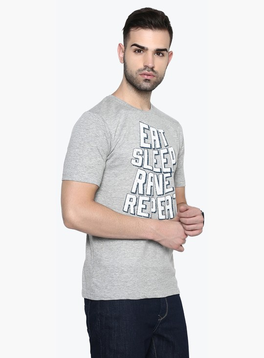 MAX Eat Sleep Rave Repeat Print T-Shirt
