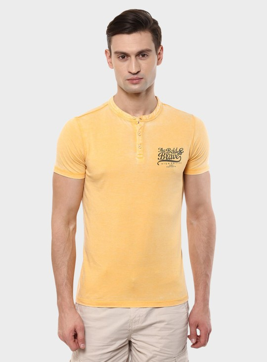 MAX Henley Collar Short Sleeves T-Shirt