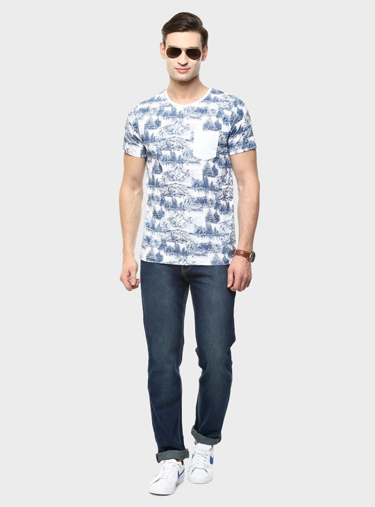 MAX Frost Print Crew Neck T-Shirt