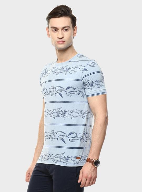 MAX Bird Print Crew Neck T-Shirt