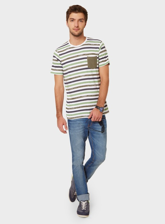 MAX Striped Patch Pocket T-Shirt