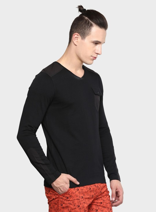 MAX V-Neck Full Sleeves T-Shirt