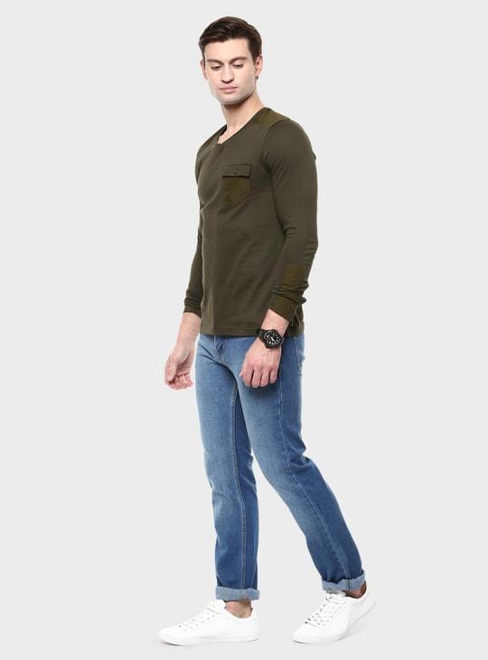 MAX V-Neck Full Sleeves T-Shirt