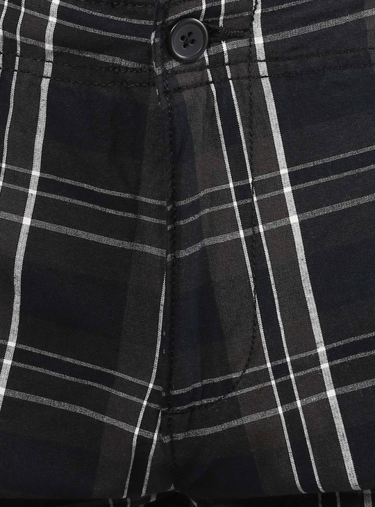 MAX Tartan Checks Printed Shorts