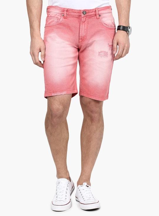 MAX Lightly Distressed Denim Shorts