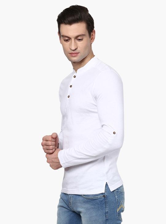 MAX Full Sleeves Henley Collar T-Shirt