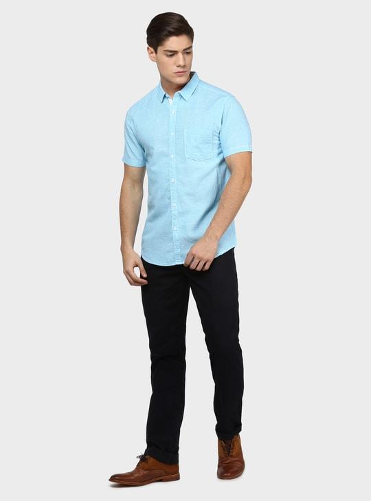 MAX Textured Half Sleeves Shirt