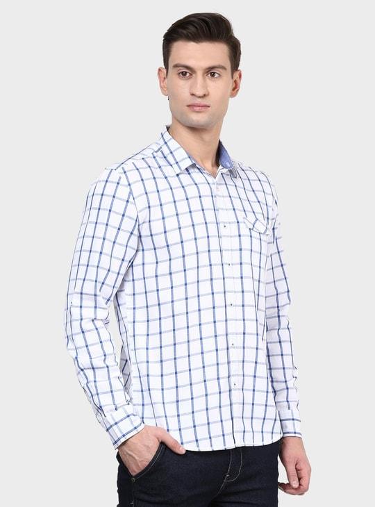 MAX Windowpane Check Slim Fit Shirt
