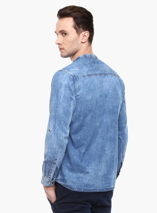 MAX Mandarin Collar Full Sleeves Shirt