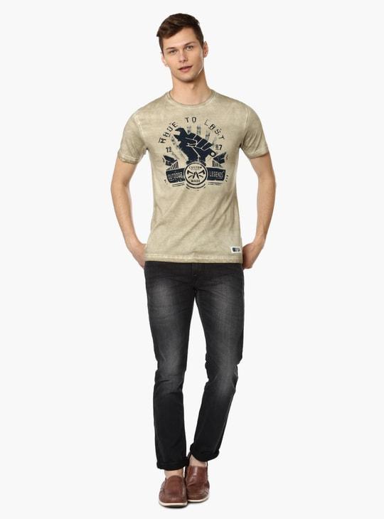 MAX Chest Imprint Crew Neck T-Shirt