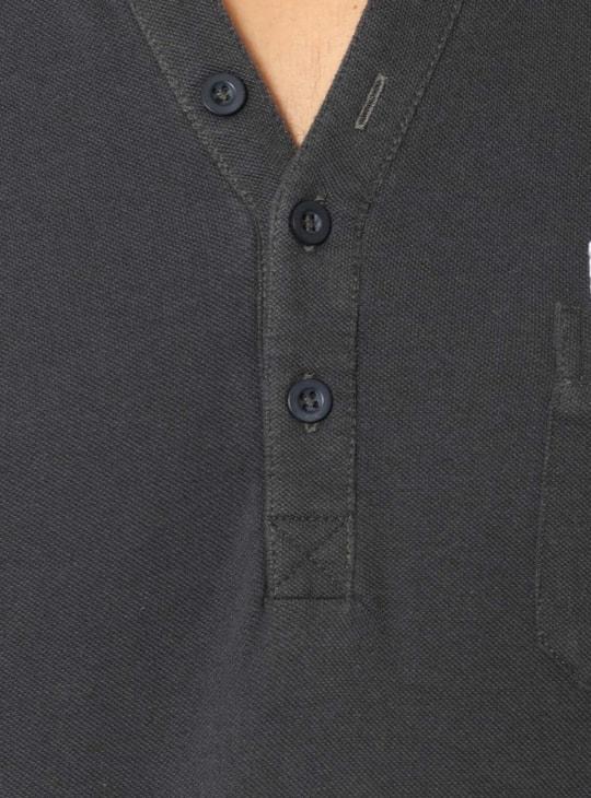 MAX Mock Henley Collar Full Sleeves T-Shirt