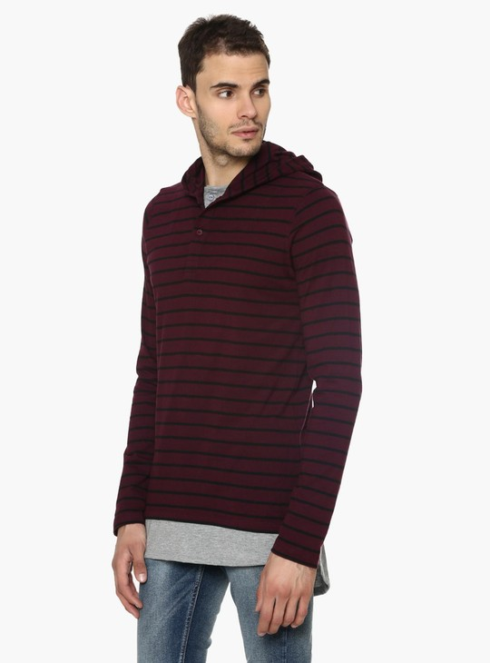 MAX Striped Hooded T-Shirt