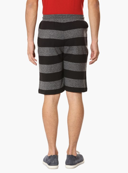 MAX Striped Pocketed Shorts