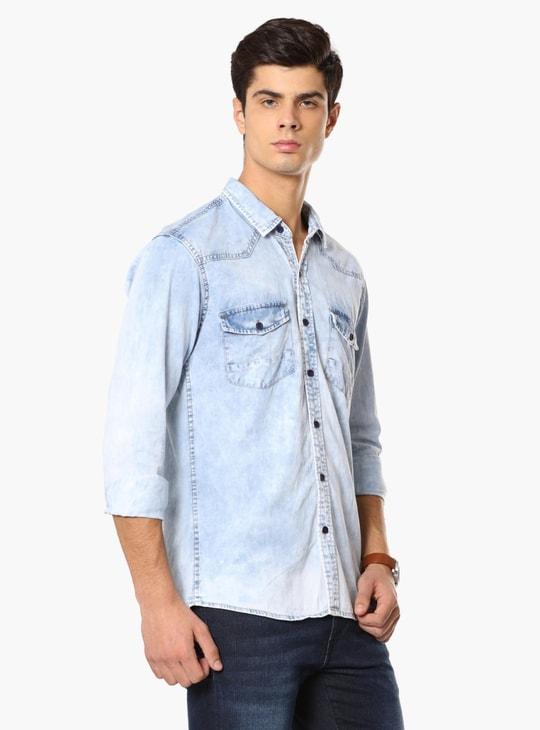 MAX Chest Pocket Denim Shirt