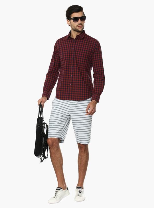 MAX Striped Slant Pocket Shorts
