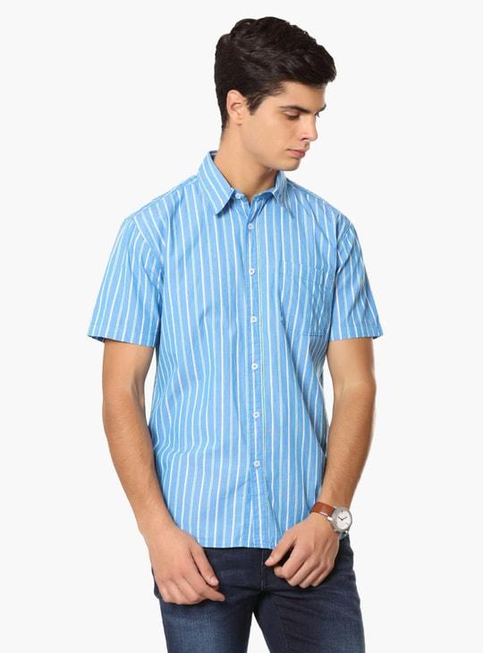 MAX Striped Half Sleeves Shirt