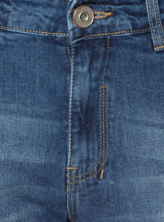 MAX Lightly Distressed Whiskered Jeans