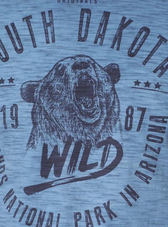 MAX Crew Neck Graphic Print T-Shirt