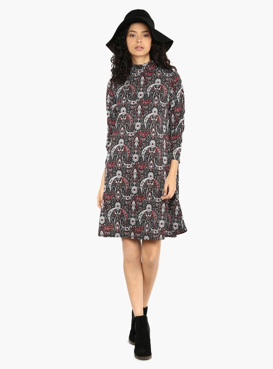 MAX Printed Flared Dress