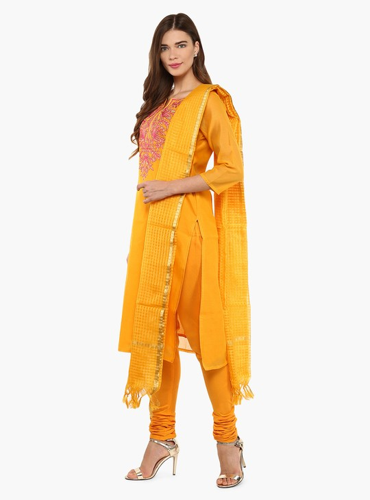 MAX Embroidered Kurta Churidar Dupatta Set
