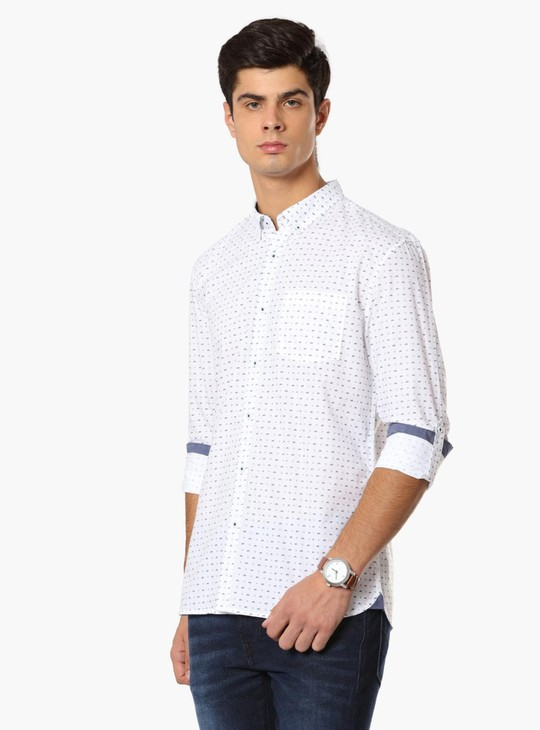 MAX Printed Button Down Collar Shirt