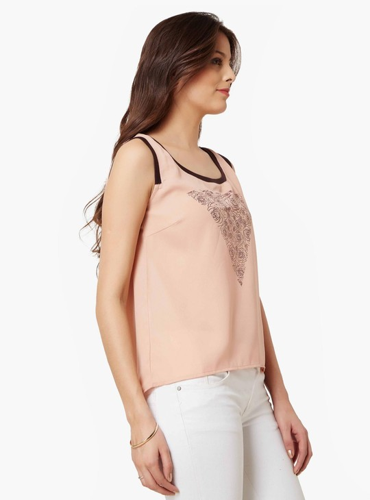 MAX Rosy Bunch Sleeveless Blouse